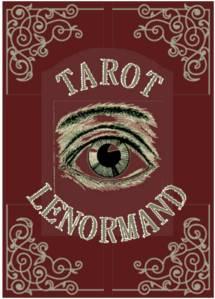 ojo vintage con el texto tarot lenormand