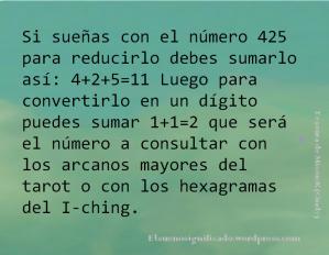 Procedimiento para interpretar números que aparecen en sueños.