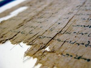 papiro antiguo en primer plano