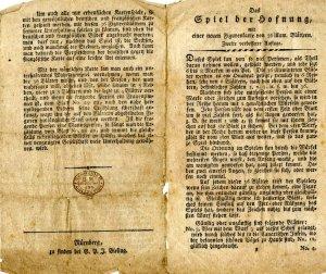 Documento original de El juego de la esperanza cuando fue publicado por primera vez.
