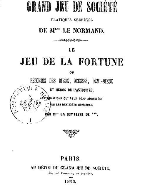 página del libro de las prácticas secretas de mademoiselle lenormand