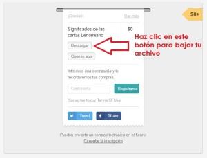 captura de pantalla que explica cómo descargar un producto comprado en gumroad