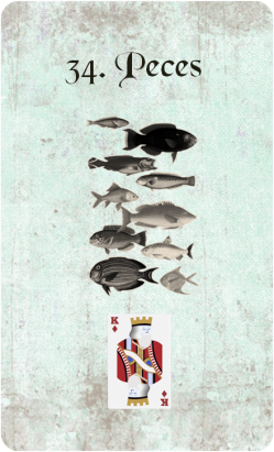 carta lenormand pez 34 baraja gratis en español